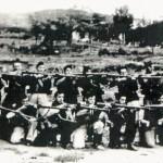 Milicianos del batallón Bakunin en Txibiarte