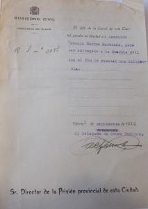 Orden de puesta en libertad de Antonio Barrón