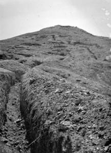 Trincheras en el monte Jarindo