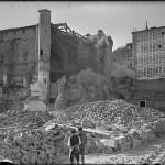 Derribo del convento de San Francisco en Vitoria