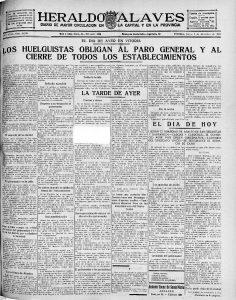 Portada Heraldo Alavés 3-12-1931