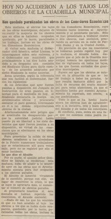 Recorte La Libertad 19-11-1931