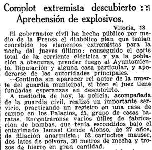 Recorte La Vanguardia 19 de abril de 1932