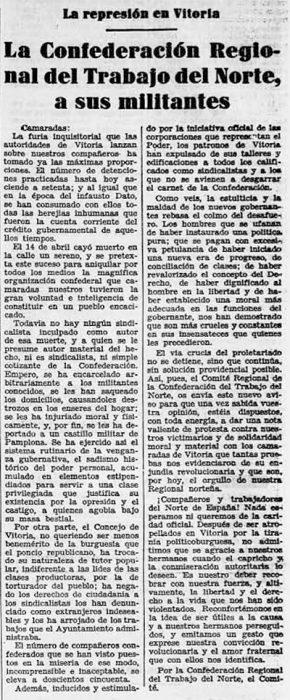 Recorte Solidaridad Obrera 5-5-1932