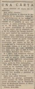 Recorte La Libertad 29-6-1932