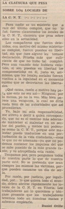 Recorte La Libertad 18-8-1933