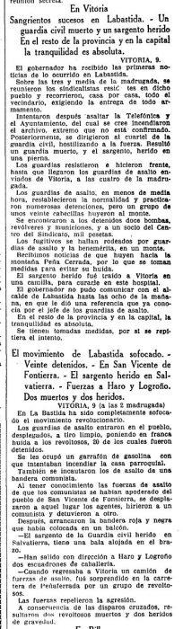 Recorte La Vanguardia 10-12-1933